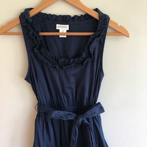 Motherhood Navy Tie Waist Sleeveless Dress